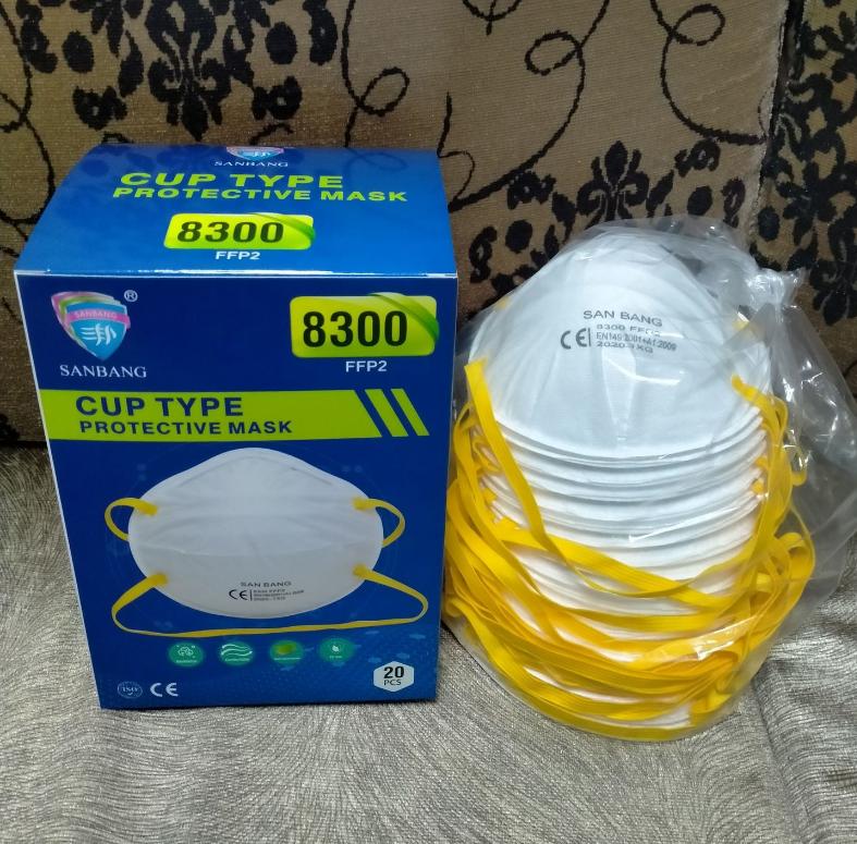 SANBANG 8300 FFP2 Disposable Respirators Head-mounted 20PCS 0