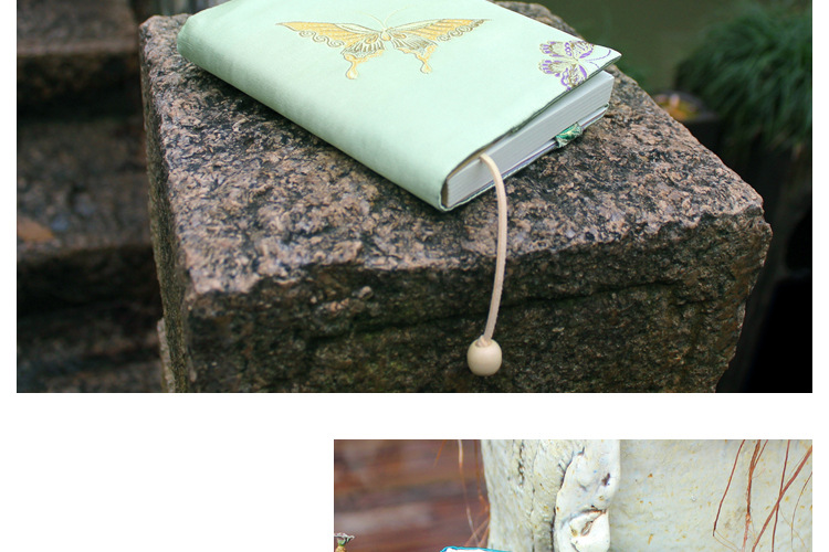 Vintage Butterfly Handmade Cloth Book Cover Notebook Cloth Book Cover Hand Account A5A6 Adjustable Book Jacket 6