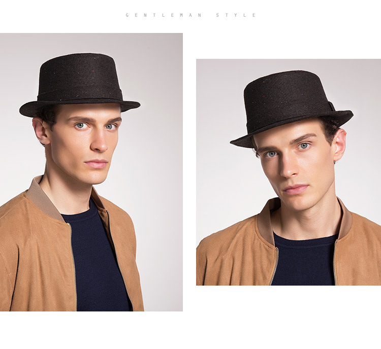 Men's Autumn And Winter New Style Hats Custom Factory Outlet Woolen Hats British Simple Trend Hats 4