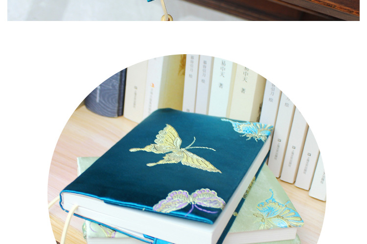 Vintage Butterfly Handmade Cloth Book Cover Notebook Cloth Book Cover Hand Account A5A6 Adjustable Book Jacket 8