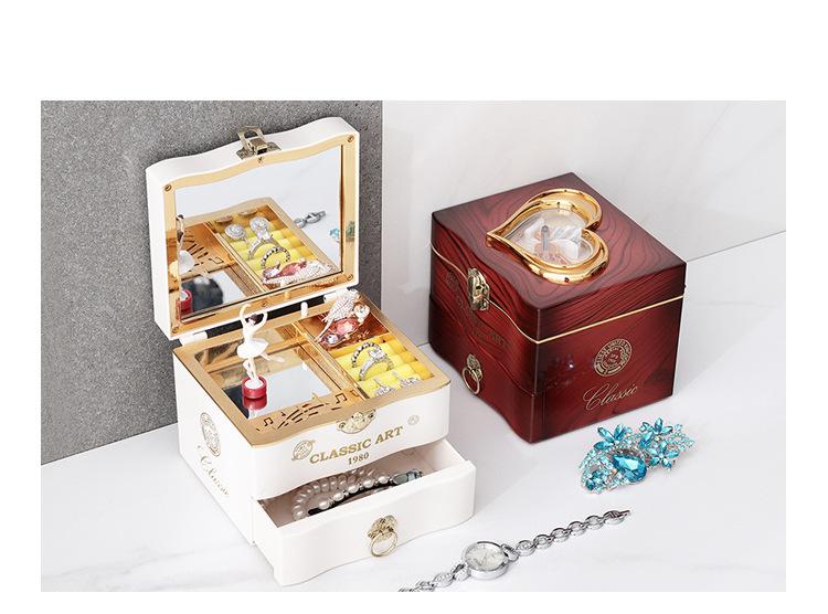 Classical Elegant Violin Quartet Jewelry Box Creative Rotating Dancing Girl Music Box Music Box Boutique 2
