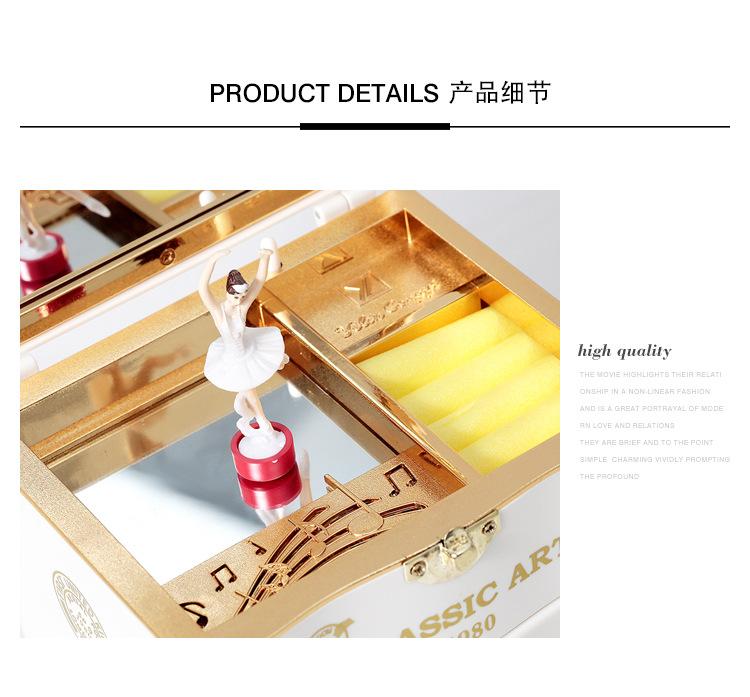 Classical Elegant Violin Quartet Jewelry Box Creative Rotating Dancing Girl Music Box Music Box Boutique 5