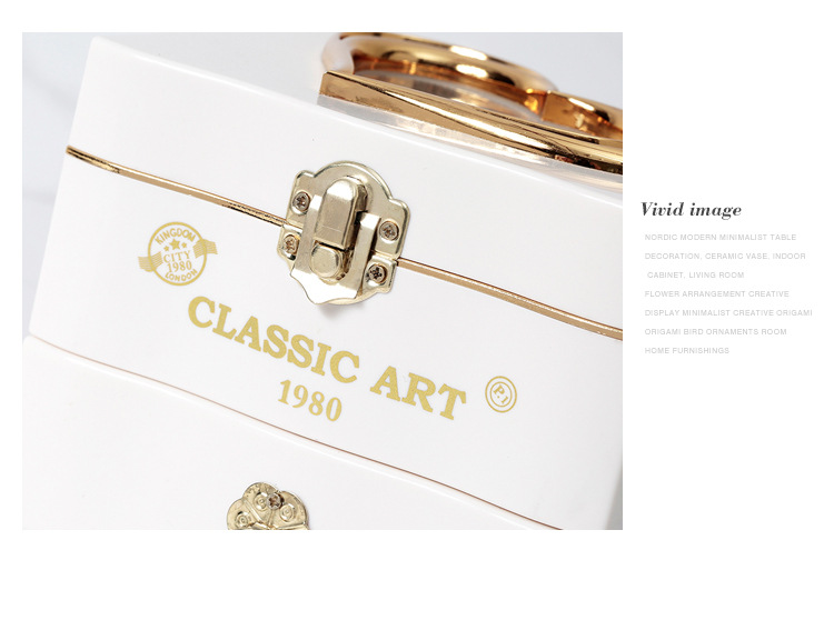 Classical Elegant Violin Quartet Jewelry Box Creative Rotating Dancing Girl Music Box Music Box Boutique 7
