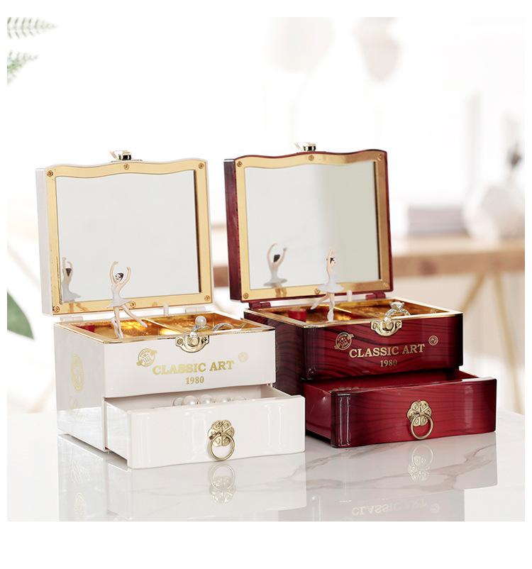 Classical Elegant Violin Quartet Jewelry Box Creative Rotating Dancing Girl Music Box Music Box Boutique 0