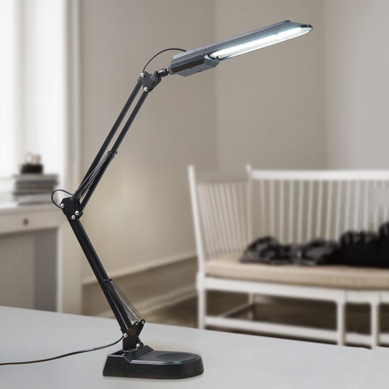 LED Eye Protection Desk Lamp Fluorescent Tube Desk Lamp Learning Office Decoration American Long Arm Clip Duckbill Desktop Desk Lamp 4