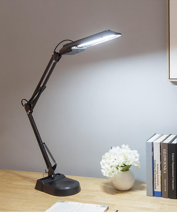 LED Eye Protection Desk Lamp Fluorescent Tube Desk Lamp Learning Office Decoration American Long Arm Clip Duckbill Desktop Desk Lamp 0