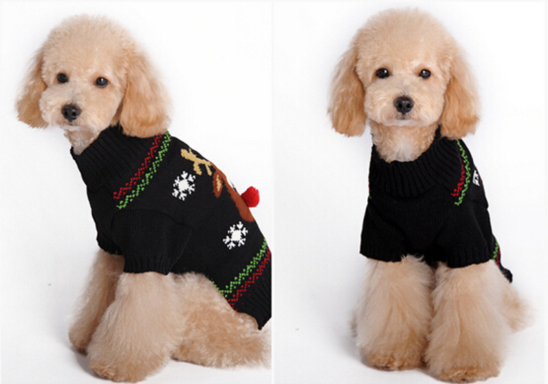 Christmas Pet Sweater Red Nosed Deer Cat And Dog Clothes Winter Clothes Teddy VIP Autumn And Winter Clothes 1