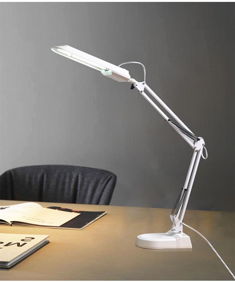 LED Eye Protection Desk Lamp Fluorescent Tube Desk Lamp Learning Office Decoration American Long Arm Clip Duckbill Desktop Desk Lamp 1