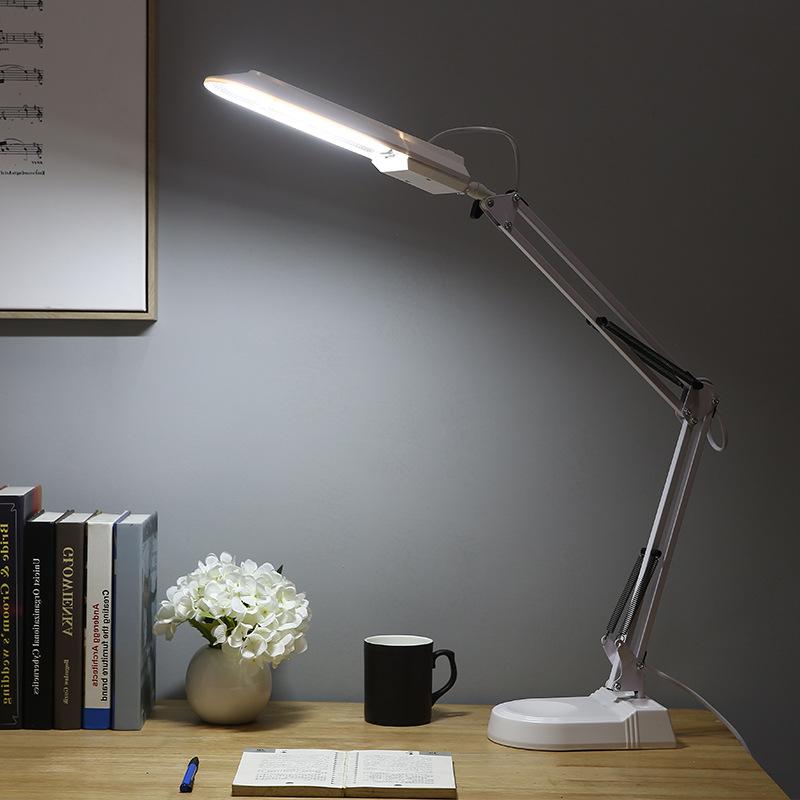 LED Eye Protection Desk Lamp Fluorescent Tube Desk Lamp Learning Office Decoration American Long Arm Clip Duckbill Desktop Desk Lamp 5