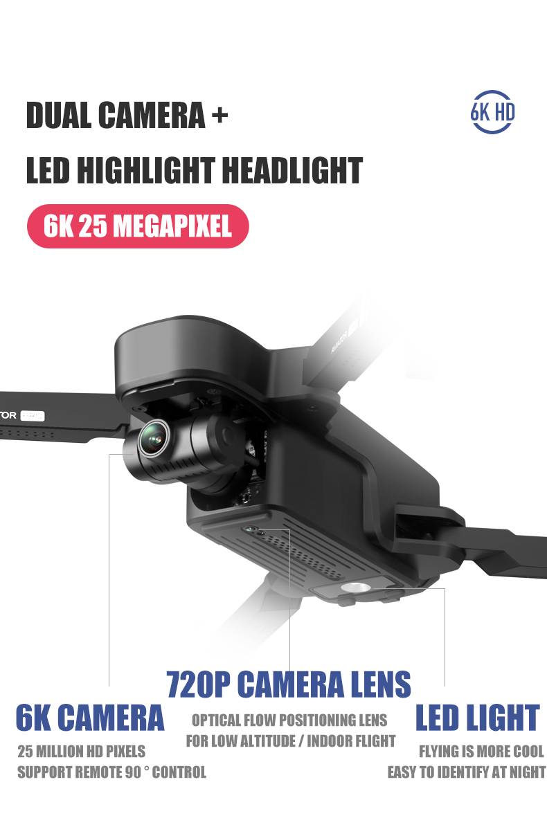 AVIATOR PRO Smart Photographer 5G GPS Drone with 6K Pixel Wide-angle Adjustable Camera  2