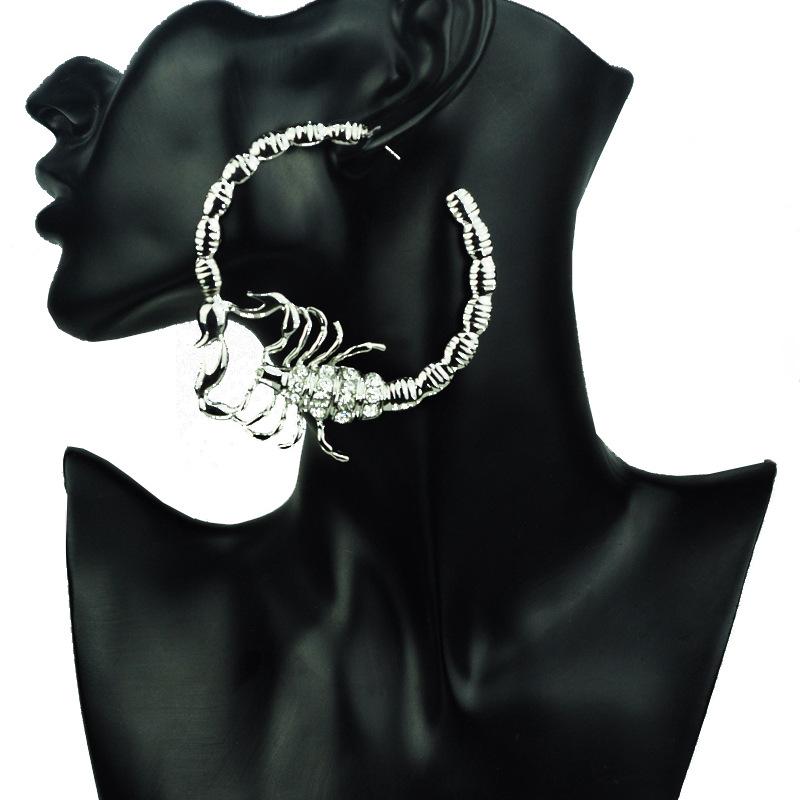Stylish Environmentally Friendly Alloy Diamond-studded Scorpion Earring For Ladies 2