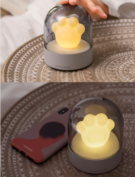 Cat Claw Music Night Light Cute Mini Valentine Gift Bedside Lamp USB Charging Smart Home LED Table Lamp 0