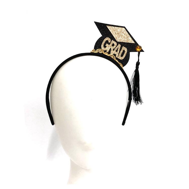Rainer Formal Graduation Hair Accessories Mini Cap Tassel Headband Student Decorations 0