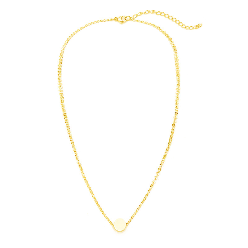 Stainless Steel Clavicle Chain Mini Wishing Small Golden Beans 18K Female Necklace Jewelry 8