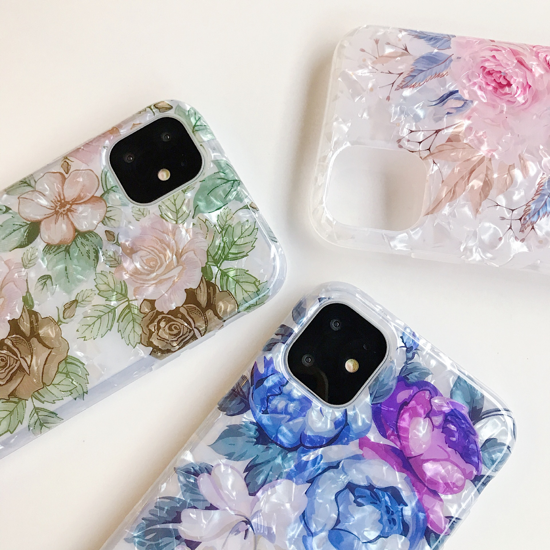 Fashional Sunflower Shell Pattern Colorful Flower IMD Mobile Phone Protective Case TPU For Iphone 2