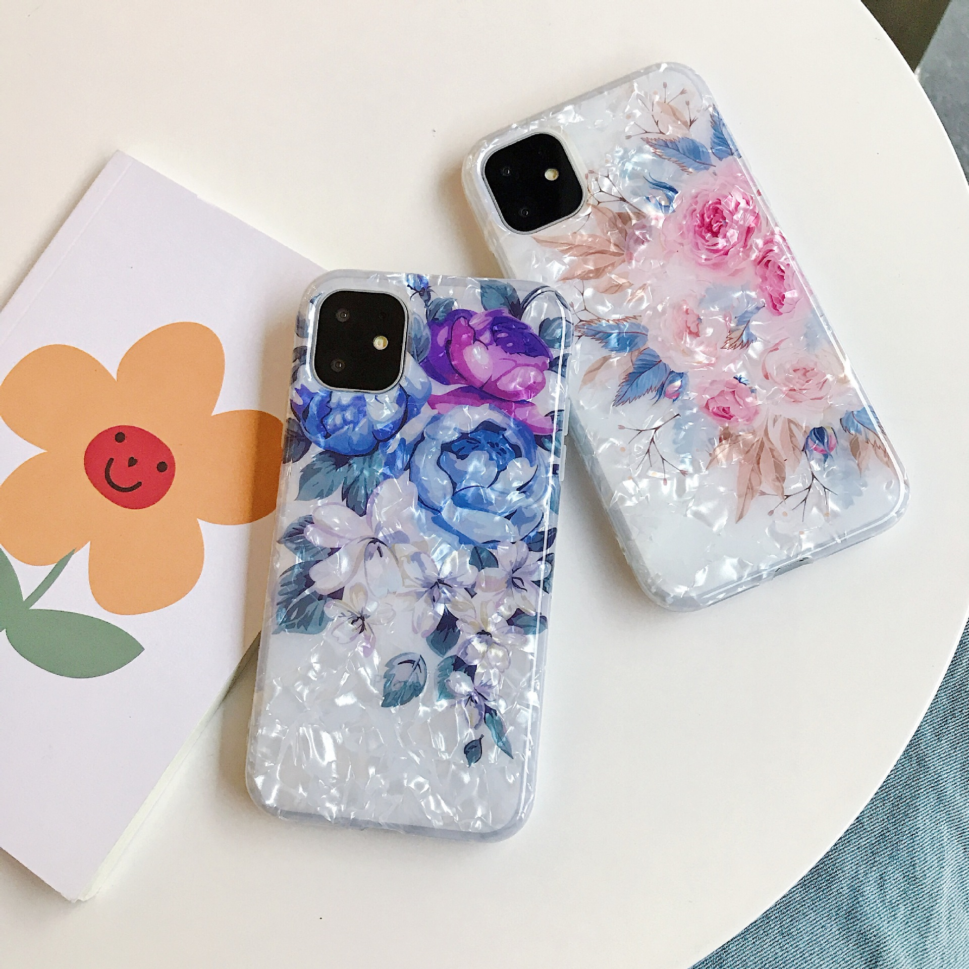 Fashional Sunflower Shell Pattern Colorful Flower IMD Mobile Phone Protective Case TPU For Iphone 0