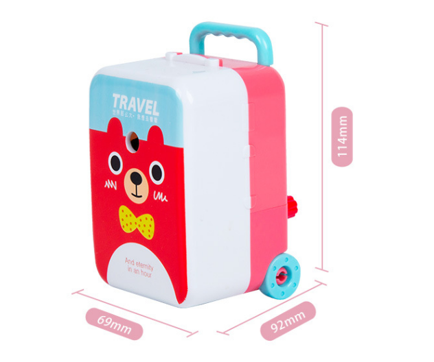 Travel World Pencil Sharpener Cartoon Creative Pencil Sharpener New Large Suitcase Pencil Sharpener For Students 2