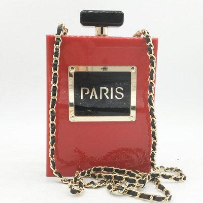 Stylish Evening Bag Acrylic Perfume Bottle Banquet Bag Alphabet Chain Evening Bag For Ladies MOQ 1 PCS 4