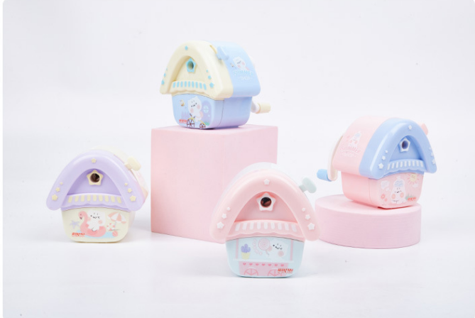 7292 Summer Cottage Pencil Sharpener Creative Pencil Sharpener Fashion Gift 2019 New Pencil Sharpener 4