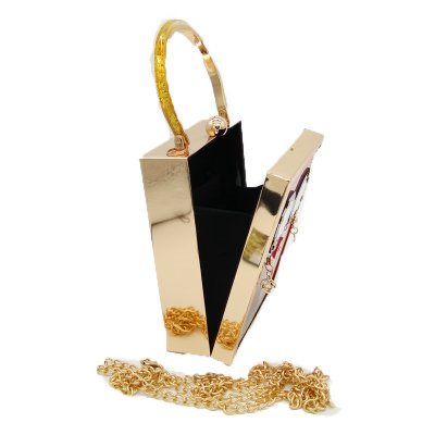 Totes Bag Fashion Acrylic Galeries Lafayette Beauty Pattern Tote and Chain Bag Evening Party Bag MOQ 1 PCS 2