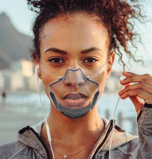 Pc Mask Lip Mask Transparent Protective Mask Anti Splash Isolation Mask Super Clear Transparent Explosive 2