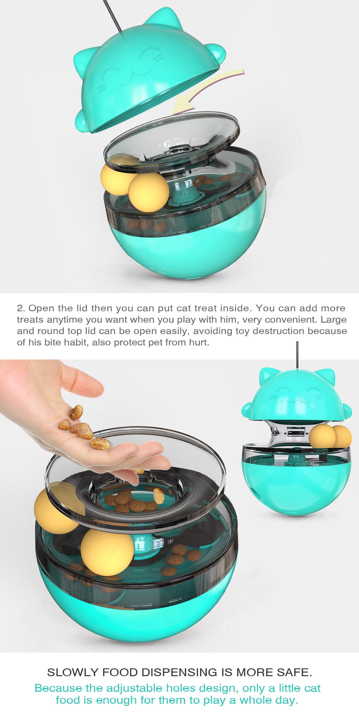 Pet Supplies Shake Cat Toy Teasing Cat Stick Teasing Artifact Track Ball Does Not Spill Food Ball MOQ 30 PCS 0