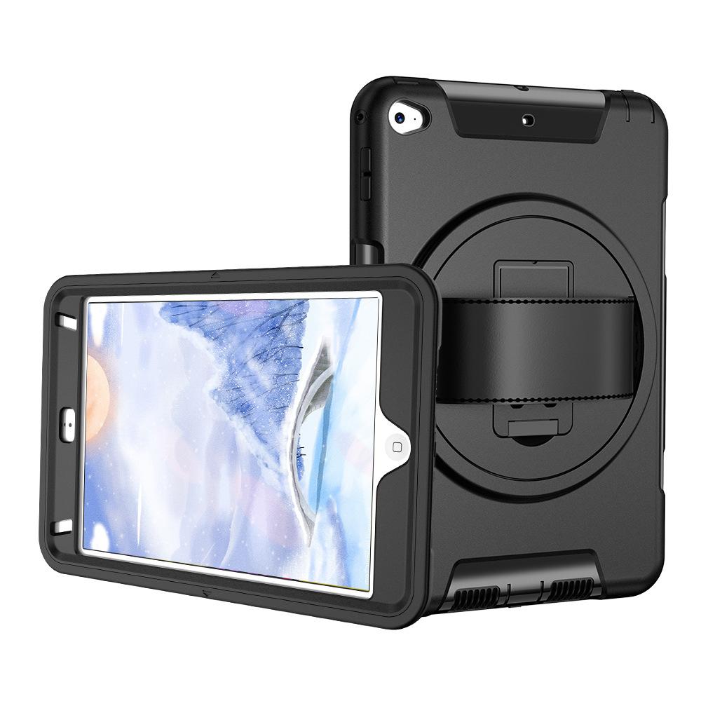 iPad Mini45 Hand Strap Protective Cover 360° Rotating Handheld Protective Cover Three-proof Protective Shell 0