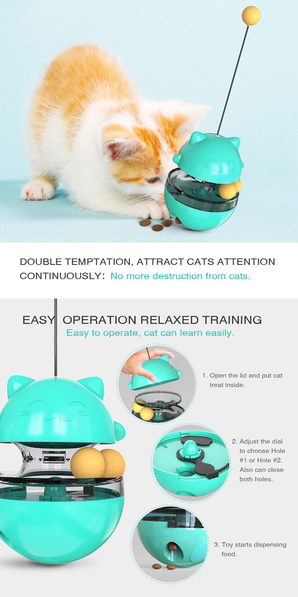 Pet Supplies Shake Cat Toy Teasing Cat Stick Teasing Artifact Track Ball Does Not Spill Food Ball MOQ 30 PCS 2