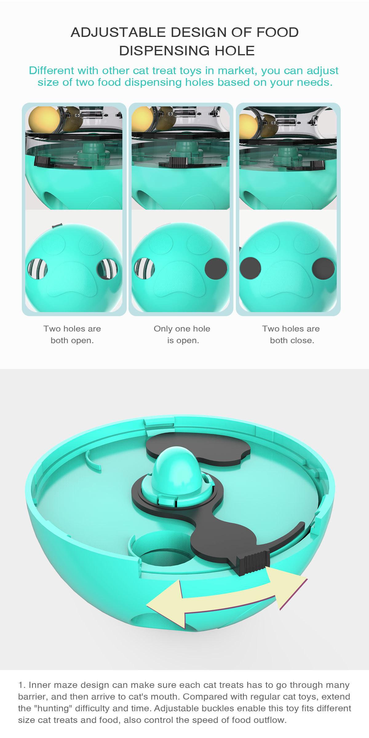 Pet Supplies Shake Cat Toy Teasing Cat Stick Teasing Artifact Track Ball Does Not Spill Food Ball MOQ 30 PCS 1