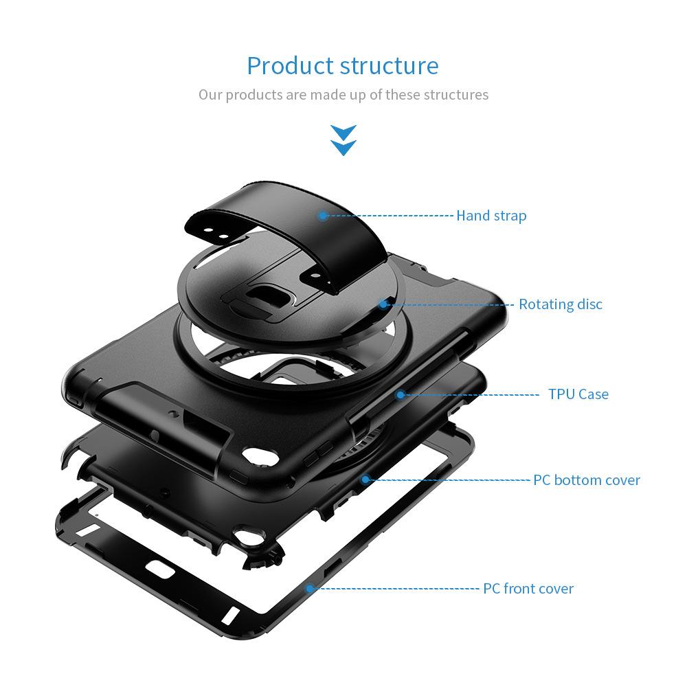 iPad Mini45 Hand Strap Protective Cover 360° Rotating Handheld Protective Cover Three-proof Protective Shell 2
