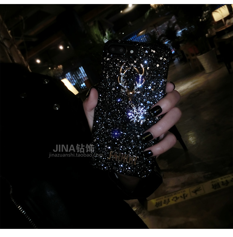 Christmas Elements Elk Sequined Glitter Phone Case Hard Shell Deer Phone Case With Fashion Trend Style 2