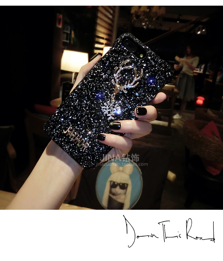 Christmas Elements Elk Sequined Glitter Phone Case Hard Shell Deer Phone Case With Fashion Trend Style 7