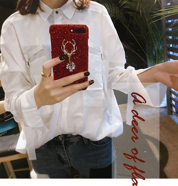 Christmas Elements Elk Sequined Glitter Phone Case Hard Shell Deer Phone Case With Fashion Trend Style 0