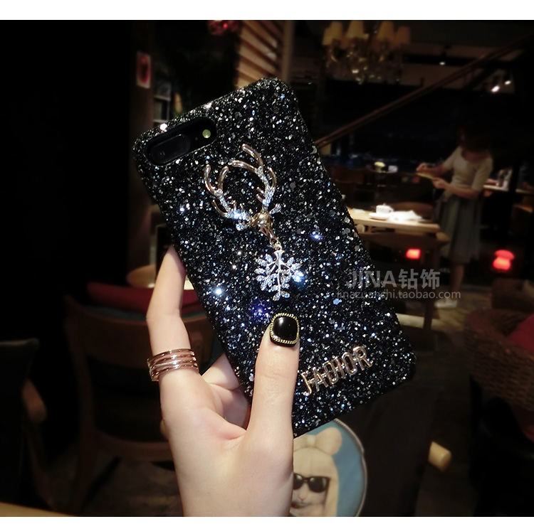 Christmas Elements Elk Sequined Glitter Phone Case Hard Shell Deer Phone Case With Fashion Trend Style 6