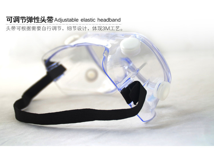 3M 1621 Goggles Polycarbonate Lens Splash-proof Chemical-proof and UV-proof Protective Goggles 3