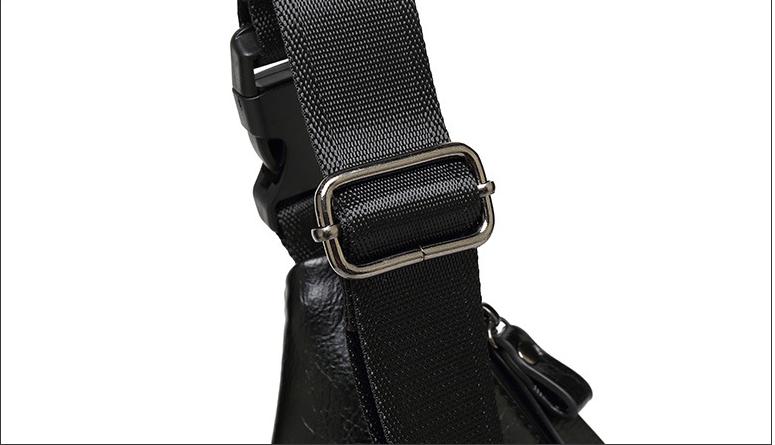 Personalized Waterproof Men's Chest Bag Multi-function Personal Anti-theft PU Gun Bag Fashion Outdoor Messenger Bag For Men 6