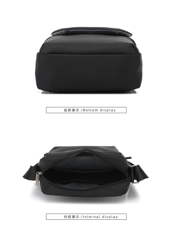 Oxford Cloth Men's Shoulder Bag Casual Bag Messenger Bag Waterproof IPAD Bag Special Oblique Cross Bag 2