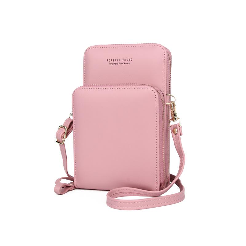 Mobile Phone Bag Vertical Wild Double Layer Pull Large Capacity Multi-function Shoulder Messenger Bag 3