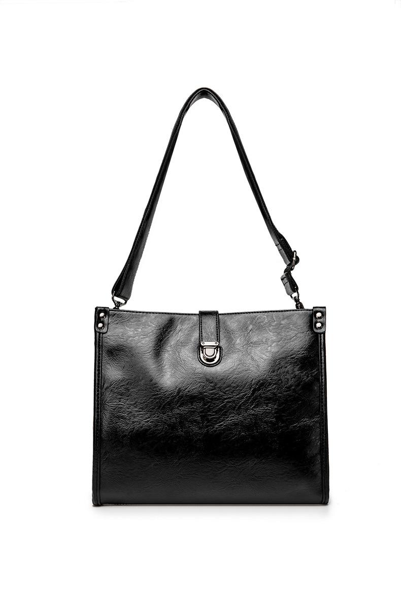 Diagonal Shoulder Bag Men's Leather Bag Business Casual Envelope Briefcase 8