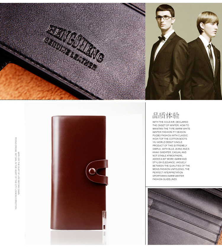 Long wallet Cross-border E-commerce Wallet Button Bag Suit Bag For Men 5