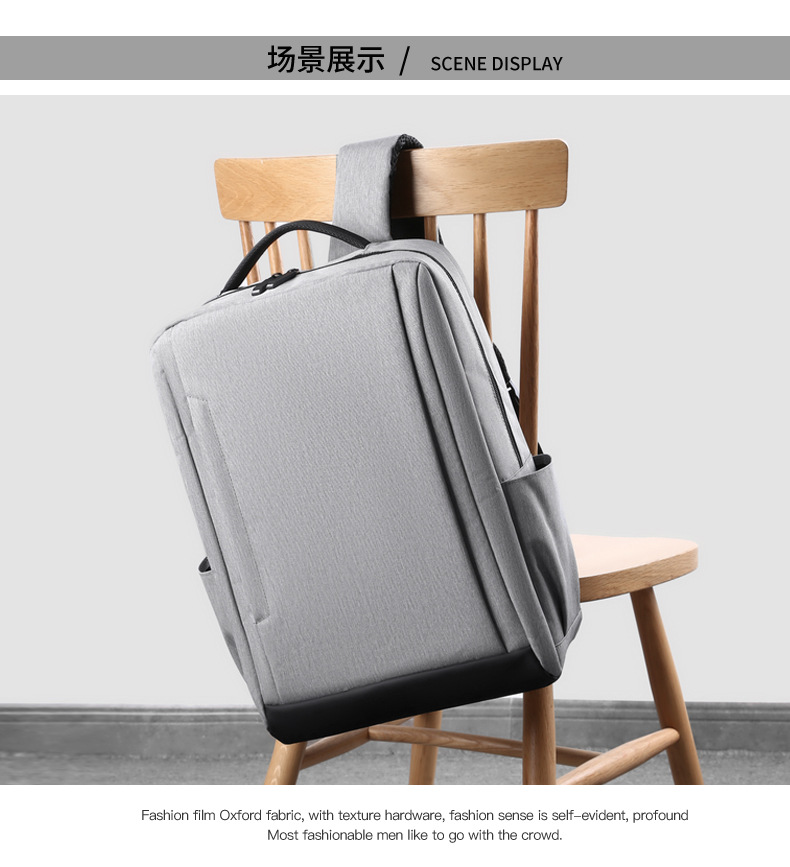 Breathable Wear-resistant And Waterproof Load-reducing USB Computer Backpack School Bag For Men And Women 0