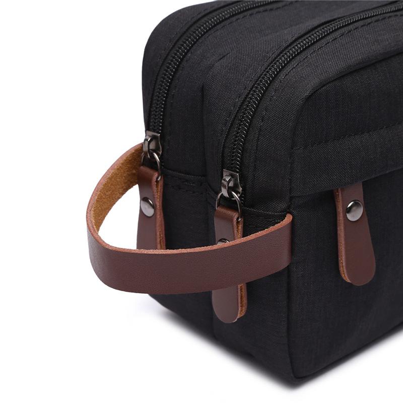 Canvas Cosmetic Bag Storage Bag Wash Bag Portable Waterproof Snowflake Material Coin Purse 4