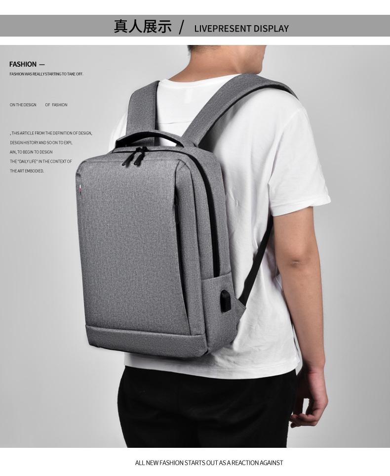 Leisure Travel Backpack Waterproof Student Trend Schoolbag Female Computer Bag 15.6-inch 0