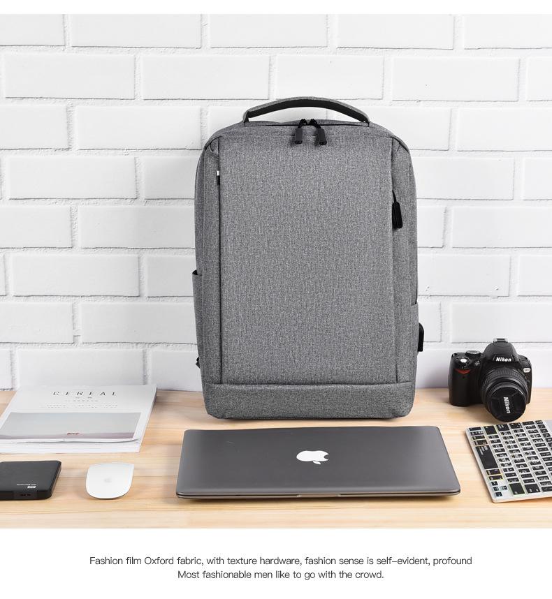 Leisure Travel Backpack Waterproof Student Trend Schoolbag Female Computer Bag 15.6-inch 4