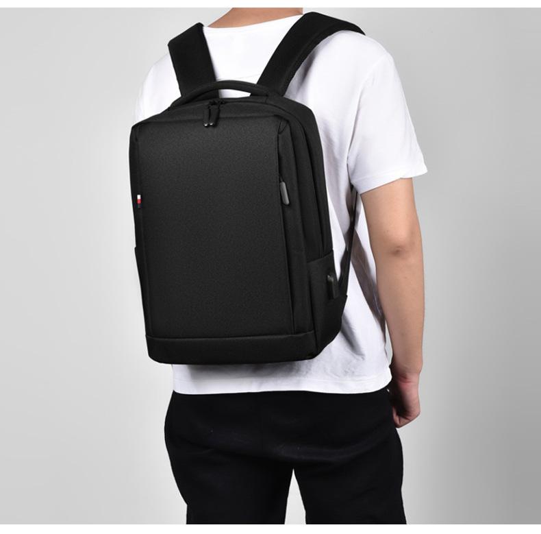 Leisure Travel Backpack Waterproof Student Trend Schoolbag Female Computer Bag 15.6-inch 3