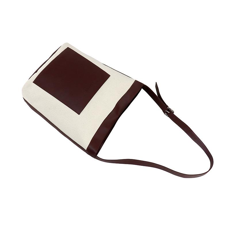 Chinese Style Japanese Small Bag Personality Plain Bag ins Neutral Children Canvas Bag Custom Logo Single Shoulder Bag 1
