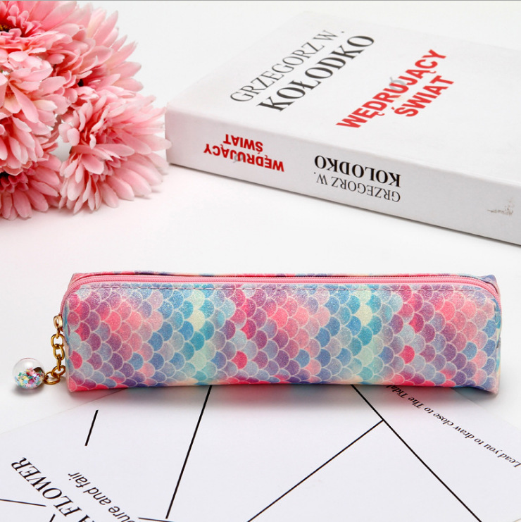 Laser Sequined Diamond Pencil Case Explosion-proof Student Supplies Colorful Stationery Bag 5