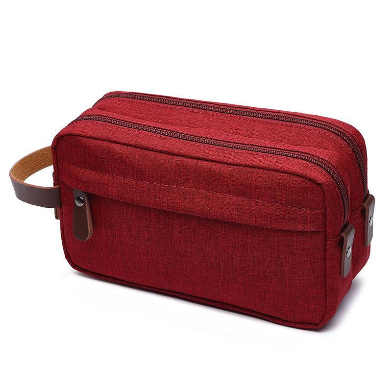 Canvas Cosmetic Bag Storage Bag Wash Bag Portable Waterproof Snowflake Material Coin Purse 3