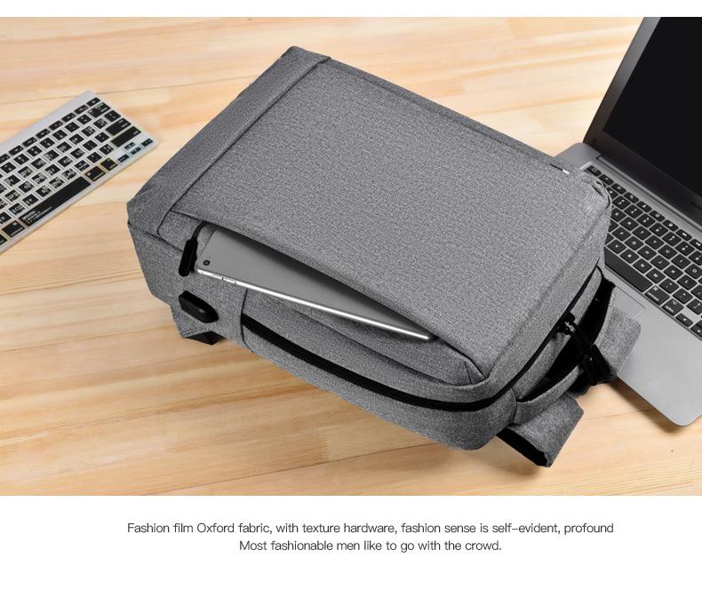 Leisure Travel Backpack Waterproof Student Trend Schoolbag Female Computer Bag 15.6-inch 5
