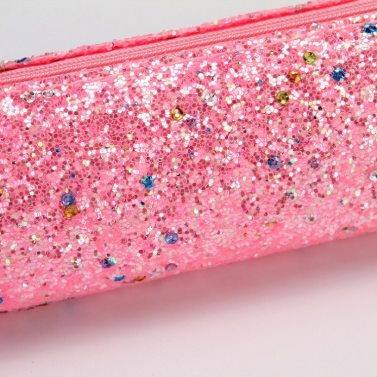 Laser Sequined Diamond Pencil Case Explosion-proof Student Supplies Colorful Stationery Bag 2
